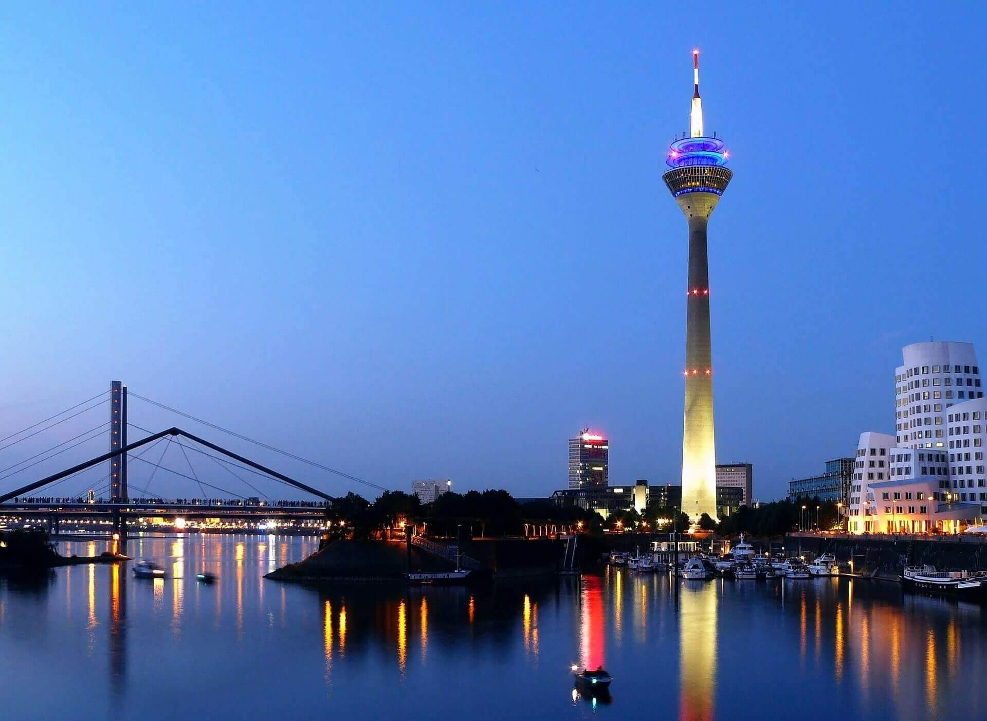 Düsseldorf Skyline Visitenkarten