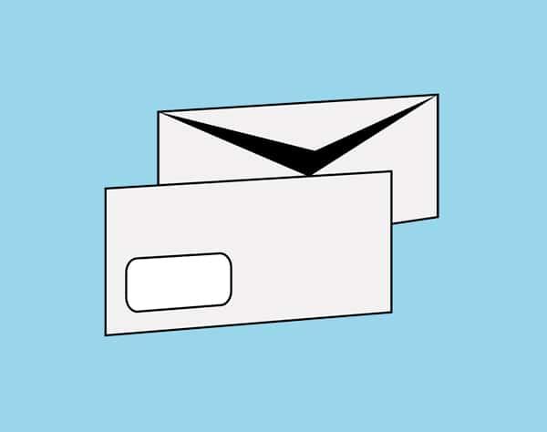 Briefumschläge Visitenkarten